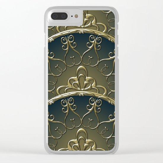 Golden Nemo Pattern Clear iPhone Case