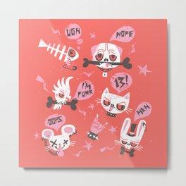 punky pets by unPATO Metal Print