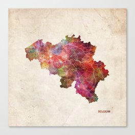Belgium map Canvas Print