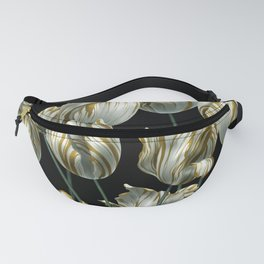 Winter Tulips in Gold. Fanny Pack