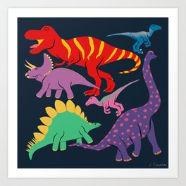 Dinosaur Domination - Dark Art Print