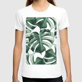 Tropical Monstera Leaves Dream #2 #tropical #decor #art #society6 T-shirt