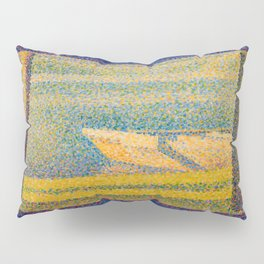 """Georges Seurat """"Moored Boats and Trees"""" Pillow Sham"""