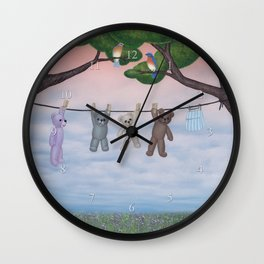 meadow fresh teddy bears Wall Clock