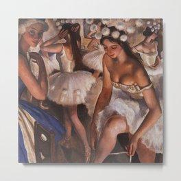 Ballerina & Ballerinas In The Dressing Room oil on canvas portrait painting by Zinaida Serebriakova Metal Print