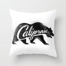 California Bear Stamp Throw Pillow