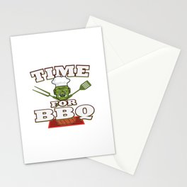 Funny Grill Party Grilling Master Ork Summer Gift Stationery Cards