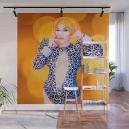 Anita Rose in Orange Wall Mural