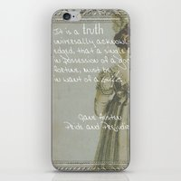 pride and prejudice iPhone & iPod Skins featuring Pride and Prejudice by Bonnie J. Breedlove