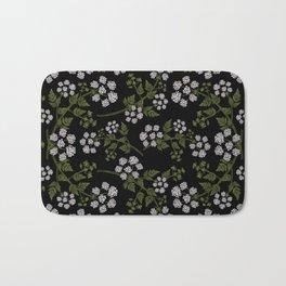 Hemlock Flower Pattern Bath Mat