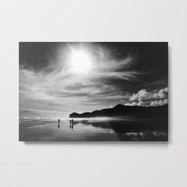 Piha Beach Metal Print