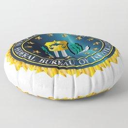 FBI Seal Mockup Floor Pillow