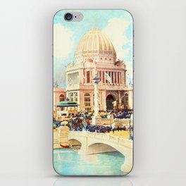 Administration Building and Crowds at 1893 World's Fair in Chicago iPhone Skin