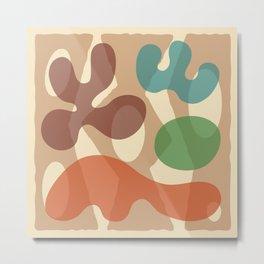 Mid Century Modern Organic Abstraction 233 Metal Print