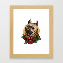 Mabari Love Framed Art Print