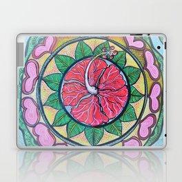 Mandala ibiscus love Laptop & iPad Skin