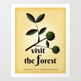 Visit The Forest Government poster Art Print