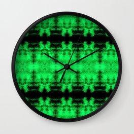 Green Black Diamond Gothic Pattern Wall Clock