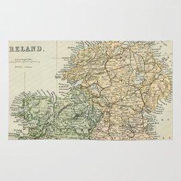 Encyclopedia Retro Map of Northern Ireland Rug