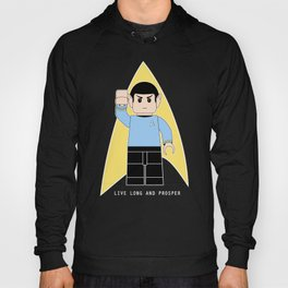 Live Long and Prosper  (Lego Spock - Star Trek) Hoody