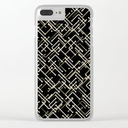 Brown and Black Clear iPhone Case
