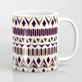 Tribal dance beige, gold and dark maroon Coffee Mug