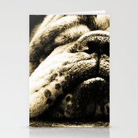 bulldog Stationery Cards featuring Bulldog by Urlaub Photography