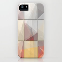 Abstract triangle art iPhone Case