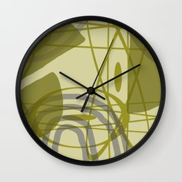 Vintage Graphic Geometric lines minimal Art Wall Clock