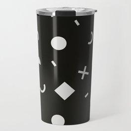 Black & White Memphis Pattern Travel Mug