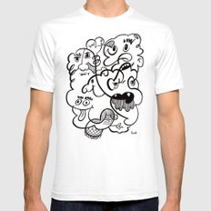 The Doodle Bunch White SMALL Mens Fitted Tee