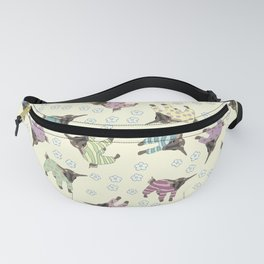 Pajama'd Baby Goats - Yellow Fanny Pack