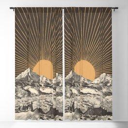 Mountainscape 6 - Night Sun Blackout Curtain