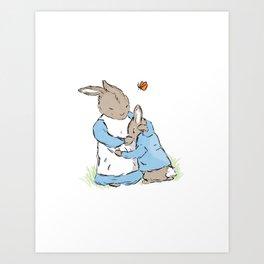 Mama Rabbit Art Print