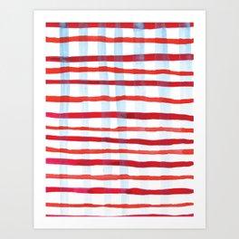 Plaid Art Print