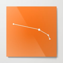 Aries (White & Orange) Metal Print