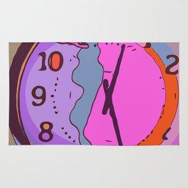 Oh, dear. I melted my clock again. Rug
