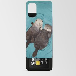 Otterly Romantic - Otters Holding Hands Android Card Case