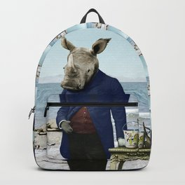Mr. Rhino's Day at the Beach Backpack