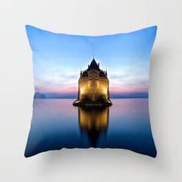 The Swiss Castle Throw Pillow