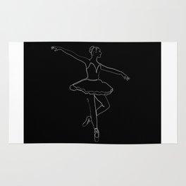 The Ballerina Line - White & Black Rug