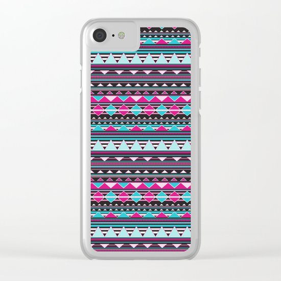 Aztec Stripes by Everett Co Clear iPhone Case