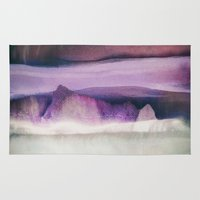 northern lights Area & Throw Rugs featuring Northern Lights by SpaceFrogDesigns