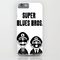 Super Blues Bros. (Black and White) iPhone 6s Slim Case