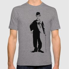 Chaplin 2X-LARGE Tri-Grey Mens Fitted Tee