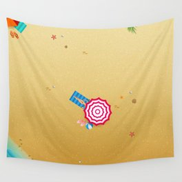 Day at the Beach Wall Tapestry