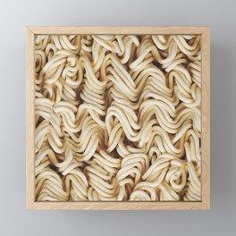 Instant Ramen Noodle Pattern Framed Mini Art Print