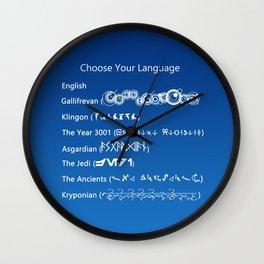 Choose Your Language Wall Clock