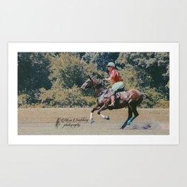 Bay Cantering Polo Pony #2 Art Print