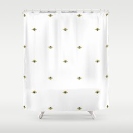 Bumblebee Art   Watercolor Bumblebee Art Shower Curtain